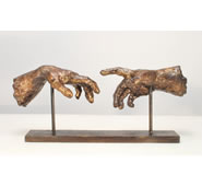 Creation Hands Sculpture by Attila