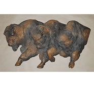 Thundering Herd, Buffalo Wall Sculpture