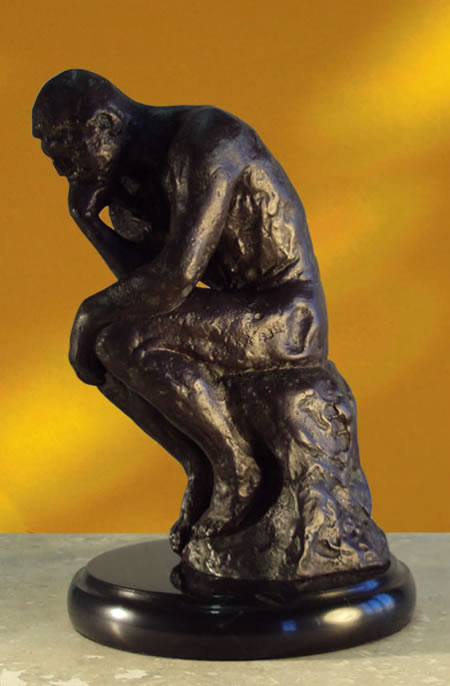 The Thinker Statue on Marble Base
