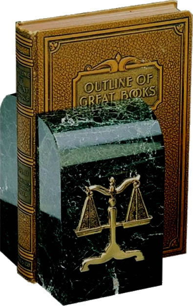 Scales of Justice Marble Bookends