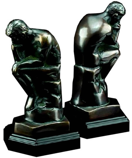 Thinker Bookends Set