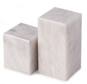 White Marble Cube Design Bookends