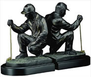 Par 3 Golfer Bookends