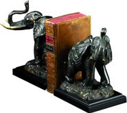 Metal Elephant Bookends