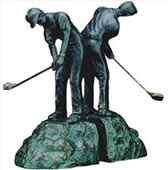 In The Fairway Golfer Bookends