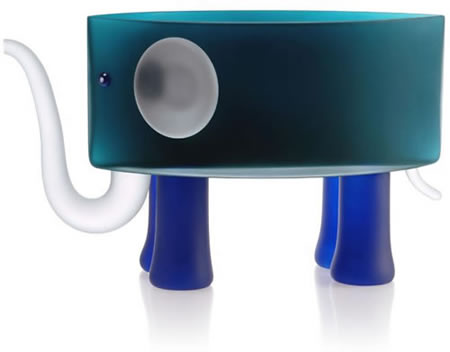 Ben the Elephant Bowl, Teal- by Borowski
