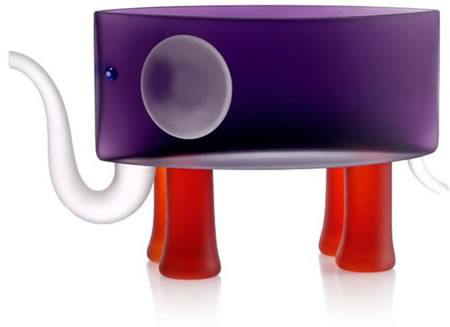 Ben the Elephant Bowl, Purple- by Borowski