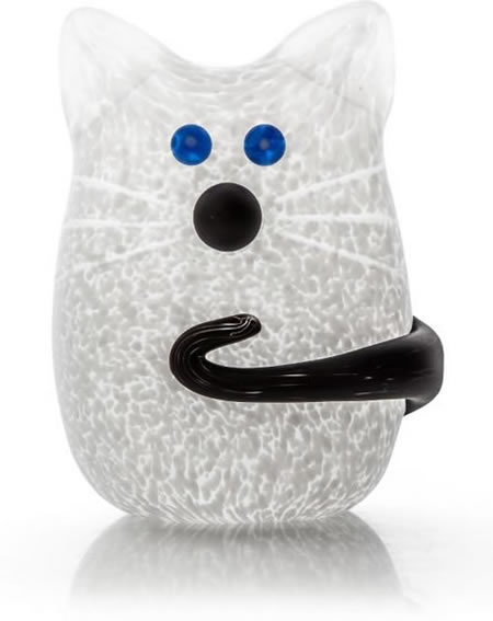 Tom the Cat Paperweight, White- by Borowski