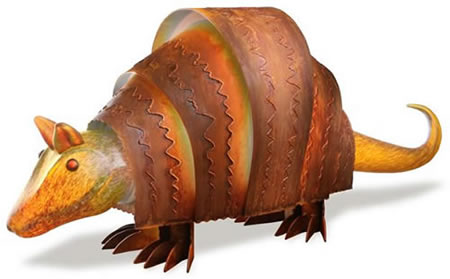 Lighted Armadillo, Amber- by Borowski