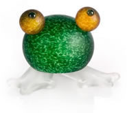Frosch the Frog Paperweight, Green- by Borowski