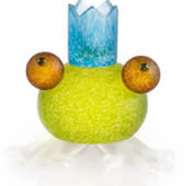 Frosch the Frog Candleholder, Lime Green- by Borowski
