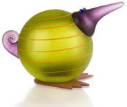 Kiwi Bird Paperweight, Lime Green- by Borowski