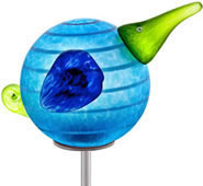 Kiwi Bird Garden Stake, Light Blue- by Borowski