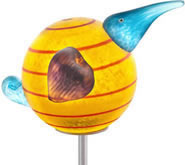 Kiwi Bird Garden Stake, Yellow- by Borowski