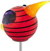 Kiwi Bird Garden Stake, Red- by Borowski