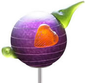 Kiwi Bird Garden Stake, Purple- by Borowski