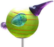 Kiwi Bird Garden Stake, Lime Green- by Borowski
