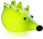Nigel the Hedgehog Paperweight, Lime Green- by Borowski