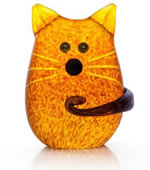 Tom the Cat Paperweight, Amber- by Borowski