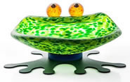 Hopper Frog Bowl, Green- by Borowski