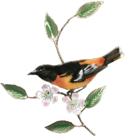 Baltimore Oriole Wall Sculpture