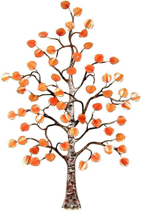 Aspen Tree Enameled Wall Sculpture, Small