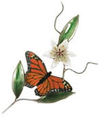 Monarch Butterfly Floral, Wall Sculpture