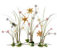 Wildflower Garden With Dragonfly Wall Sculpture, Large