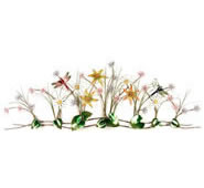 Flower Garden With Dragonflies Wall Sculpture