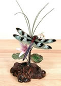 Check Winged Dragonfly Tabletop Sculpture