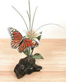 Monarch Butterfly with Daylily Tabletop Sculpture