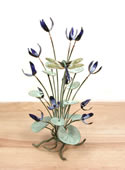 Blue Flowers with Dragonfly Tabletop