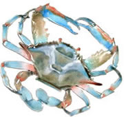 Crab (Blue) Wall Sculpture