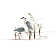 Double Herons Wall Sculpture