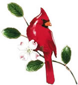 Cardinal Wall Sculpture