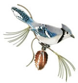Blue Jay Wall Sculpture
