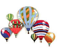 7 Balloons In Flight Wall Sculpture