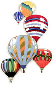 6 Balloons In Flight Wall Sculpture