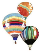 Three Balloons In Flight Wall Sculpture