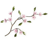 Cherry Blossom Branch Wall Sculpture