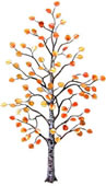 Aspen Tree Enameled Wall Sculpture, Large
