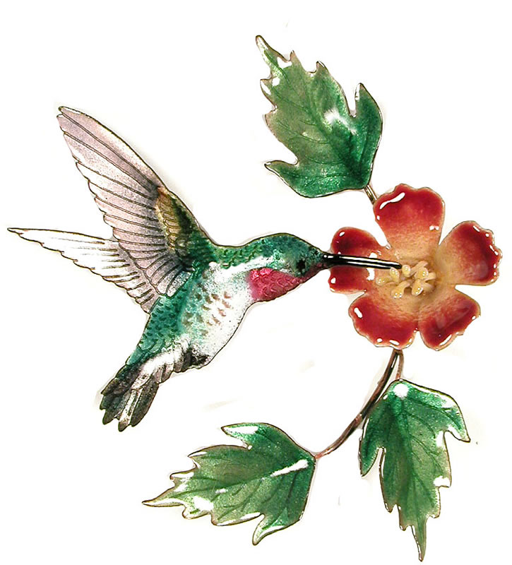 Hummingbird With Trumpet Flower Bovano Of Cheshire All