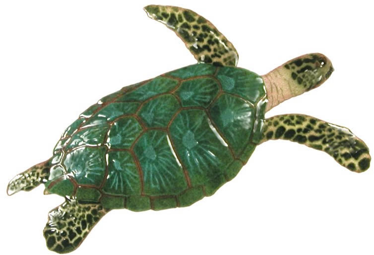 Sea Turtle, Large/Single Wall Sculpture, Bovano-of