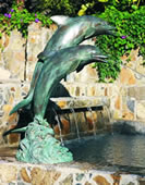Double Dolphins Fountain- Medium