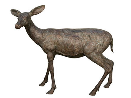 Bronze Doe Sculpture