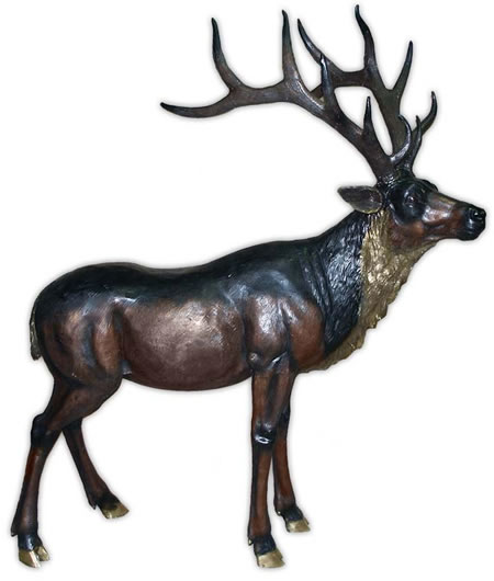 Bronze Standing Stag Sculpture, Extra Large