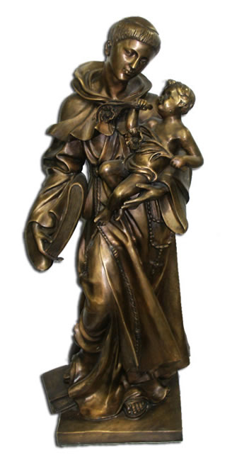 Bronze Saint Anthony with Baby Statue