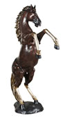 Bronze Rearing Horse Sculpture- Left