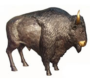 Bronze Standing Bison Sculpture, Large