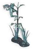 Climbing Frogs Bronze Sculpture